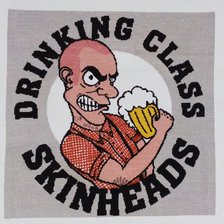 Работа «Drinking class skinheads»