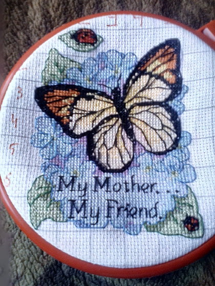 Работа «Butterfly: My mother ... My friend.»