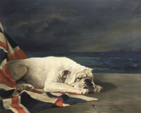 "Схема вышивки «Lilian Cheviot ""Wake Up England White Bulldog""»"