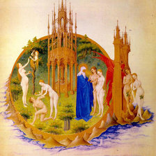 Схема вышивки «LIMBOURG_brothers_Dornai_Adam_and_Eve»