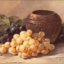 Схема вышивки «Still Life of Grapes and Pottery Vase»