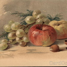 Схема вышивки «Apples and Grapes»