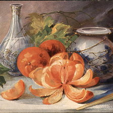 Схема вышивки «Two Vases and Three Oranges»