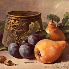 Схема вышивки «pears and plums»