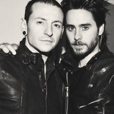 Схема вышивки «Chester Bennington & Jared Leto»