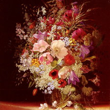Схема вышивки «Dietrich Adelheid Still Life With Flowers»