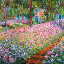 Схема вышивки «Artist's Garden at Giverny»
