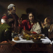 Схема вышивки «The Supper at Emmaus 1601»