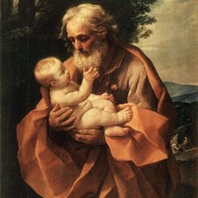 Схема вышивки «Saint Joseph with the Infant Jesus»