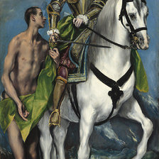 "Схема вышивки «""Saint Martin and the Beggar"", 1599, El Greco»"