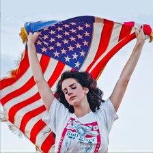 Схема вышивки «Lana Del Rey and American Flag»