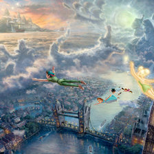 "Схема вышивки «""Tinker Bell and Peter Pan Fly to Neverland""»"