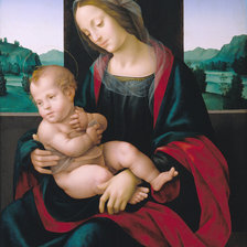 Схема вышивки «Lorenzo di Credi, Madonna and Child»