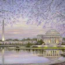 Схема вышивки «Spring Blossom – Washington»