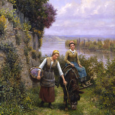 Схема вышивки «daniel_ridgway_knight_a3513_returning_home»