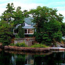 Схема вышивки «Island-House-in-Thousand-Islands-Canada»