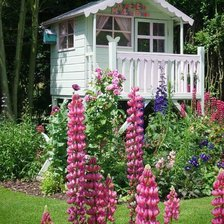 Схема вышивки «Pollyanna-Cottage-playhouse-in-the-garden»