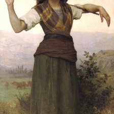 Схема вышивки «William-Adolphe Bouguereau Shepherdess»