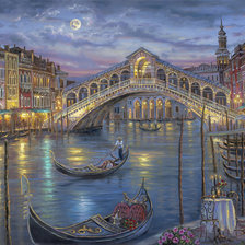 Схема вышивки «Last Night on the Grand Canal»