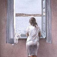 Схема вышивки «Girl at a window»