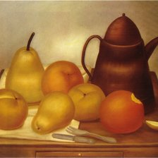 Схема вышивки «Still life with coffe pot-Botero»