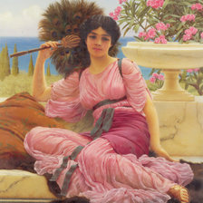 Схема вышивки «John William Godward (1861-1922) - Flabellifera 1905»