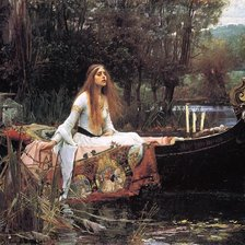 Схема вышивки «Waterhouse, Lady of Shalott»