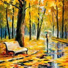 Схема вышивки «FALL RAIN By Leonid Afremov»