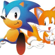 Схема вышивки «Sonic and Tails»