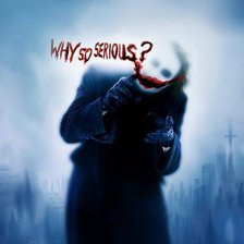 Схема вышивки «Why so serious?»