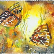 Схема вышивки «watercolour butterfly»