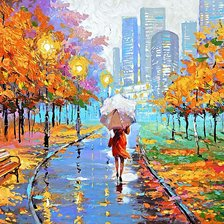 Схема вышивки «Dmitry Spiros - Farewell to autumn»
