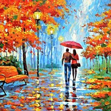 Схема вышивки «Dmitry Spiros - We met in park»