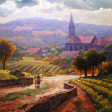 Схема вышивки «leon roulette alsace morning»