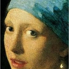 Схема вышивки «GIRL WITH A PEARL EARRING - JOHANNES VERMEER»