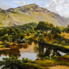 Схема вышивки «View of Patterdale, Westmorland.»