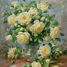 Схема вышивки «STILL LIFE WITH ROSES»