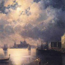 Схема вышивки «Byron in Venice by Ivan Aivazovsky»