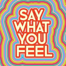 Схема вышивки «say what you feel»
