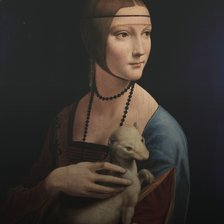 Схема вышивки «Leonardo da Vinci, Lady with an Ermine c.1489»